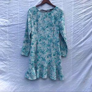 NWOT Banana Republic blue floral ruffle dress